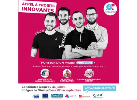 Appel à candidature Rimbaud'Tech : transformez votre créativité en projet économique concret