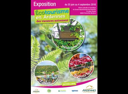 le Club Tourisme Durable des Ardennes organise du 25 juin au 4 septembre une exposition à la Vitrine des Ardennes, Place Ducale à Charleville-Mézières, dans les Ardennes au Nord-Est de la France