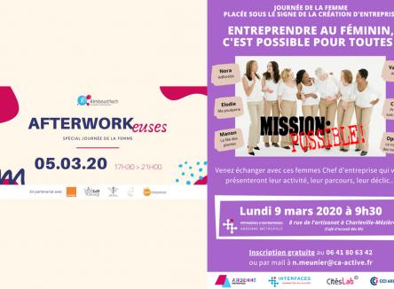 A l'occasion de la journée Internationale des Droits de la femme le 8 mars prochain, Rimbaud'Tech, l'incubateur d'entreprises ardennais, et la pépinière d'entreprises d'Ardenne Métropole organisent des événements dédiés à l'entrepreneuriat féminin