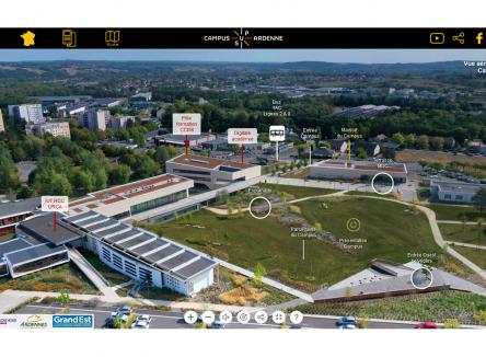 Survol du Campus universitaire Sup Ardenne