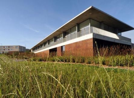 Le centre de formation CFA BTP de Poix-Terron dans les Ardennes au Nord-Est de la France
