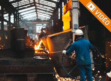 Au cœur de la Vallée de la Meuse, à Revin dans les Ardennes, la fonderie Béroudiaux est le spécialiste français de la fabrication de contrepoids en fonte qui équipent les engins de travaux publics
