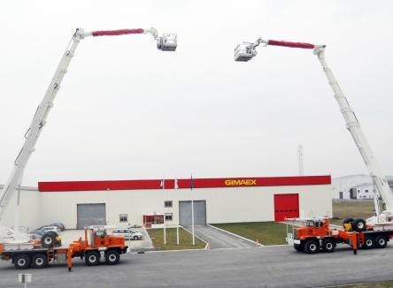 la société EGI spécialisée dans la production de bras élévateurs pour le secours et la lutte contre l'incendie, installée sur la zone industrielle des Ayvelles, entre Charleville-Mézières et Sedan, dans les Ardennes au Nord-Est de la France