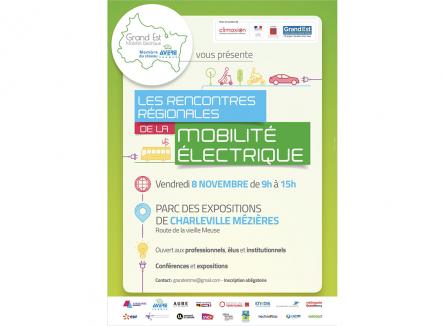 Le vendredi 8 novembre 2019, l'association Grand Est Mobilité Electrique organise les rencontres régionales de la mobilité électrique au parc des expositions de Charleville-Mézières