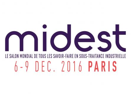 Salon international de la sous-traitance industrielle, le MIDEST se déroule du 6 au 9 décembre 2016 au Parc des expositions de Paris Nord Villepinte