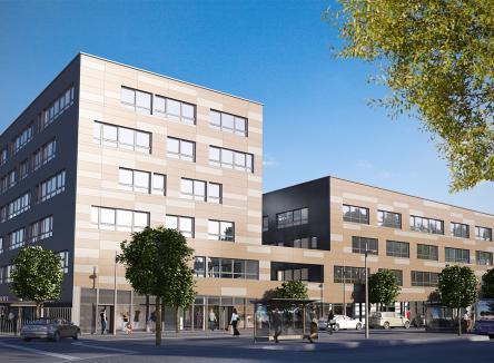 Le centre d'affaires Terciarys dédié aux activités de services, commerces et bureaux à Charleville-Mézières au Nord-Est de la France