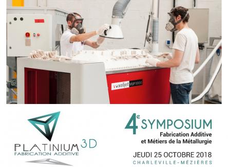 La 4ème édition du Symposium sur la Fabrication Additive et Métiers de la Métallurgie se tiendra dans les Ardennes le jeudi 25 octobre 2018, à Charleville-Mézières