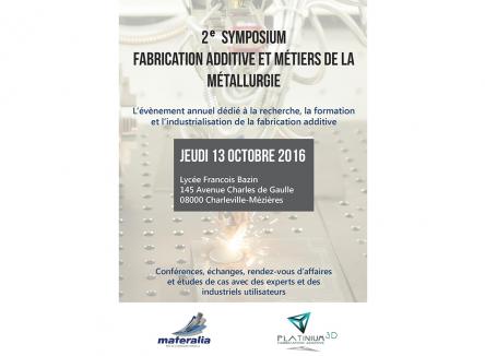 Charleville-Mézières accueille au lycée Bazin plus de 150 participants pour cette manifestation, tous engagés à différents titres dans le développement de la fabrication additive pour l'industrie, s'inscrivant ainsi dans l'industrie du futur