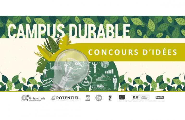 Jusqu'au 31 décembre 2019, les étudiants ardennais peuvent participer au concours d'idées Campus Durable lancées par Potentiel CA et Rimbaud'Tech
