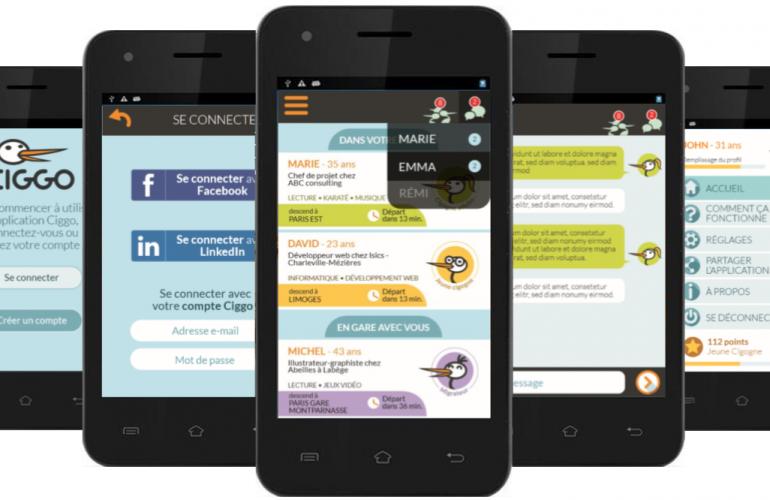 Ciggo, application mobile pour voyageur en train. SNCF, Pépinière Antoine Delhomme - Willy Lachambre, Ardennes 08 - Nord-Est de la France
