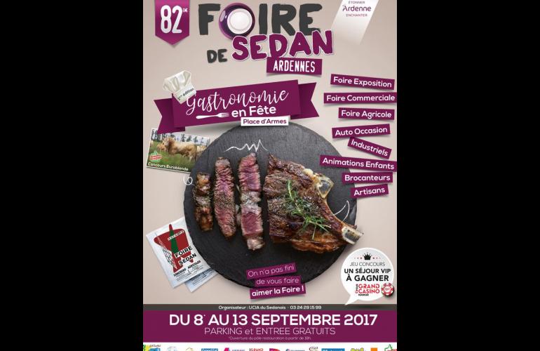 la foire agricole et commerciale fait son retour dans les Ardennes du 8 au 13 septembre 2017, à Sedan