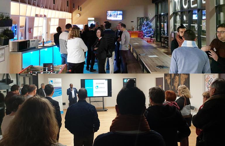 En collaboration avec Ardennes Développement, Grand Est Numérique a organisé son premier After Work thématique au sein du Campus Sup Ardenne à Charleville-Mézières, le jeudi 5 décembre 2019