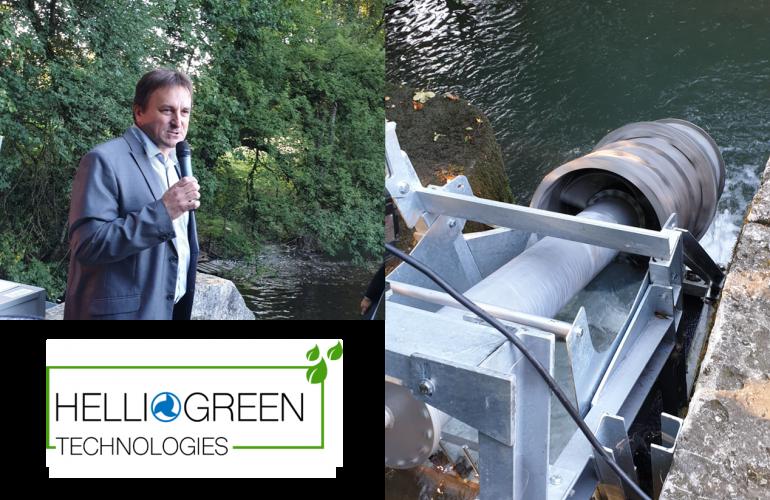 Passée par l'incubateur Rimbaud'Tech, l'entreprise ardennaise HELLIOGREEN Technologies a inauguré son démonstrateur de micro-turbine hydroélectrique en conditions réelles le jeudi 19 septembre 2019 à Signy-L'Abbaye.