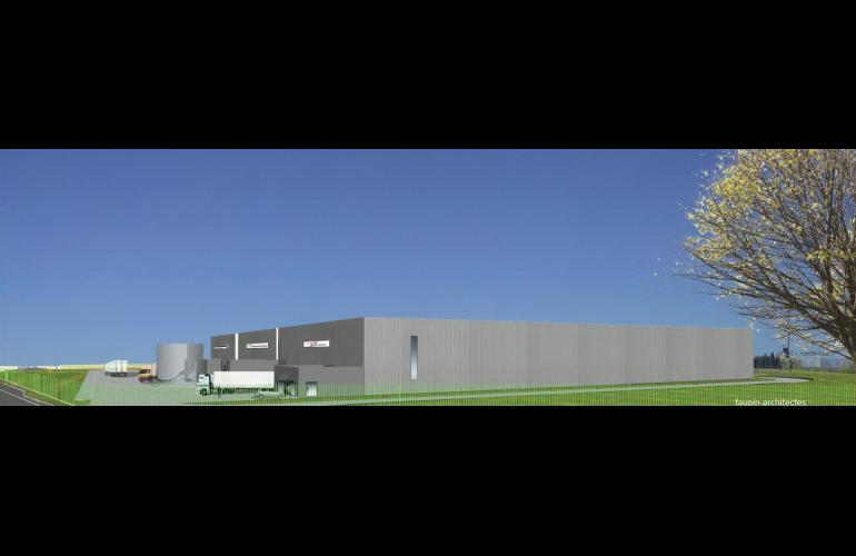 Entrepôt à Rethel, aménagé par le Conseil Départemental des Ardennes idéal, liaison directe France/Benelux et desserte des ports de la Mer du Nord- Spie Batignolles