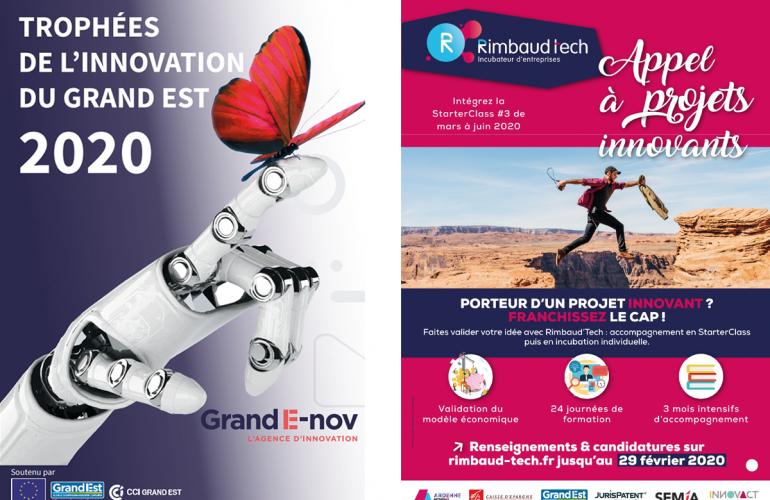 Mardi 28 janvier 2020, Grand E-nov, l'agence régionale de l'innovation a organisé les cérémonies de remise des Trophées de l'innovation, avec le soutien de la Région Grand Est, la CCI Grand Est et l'Union Européenne