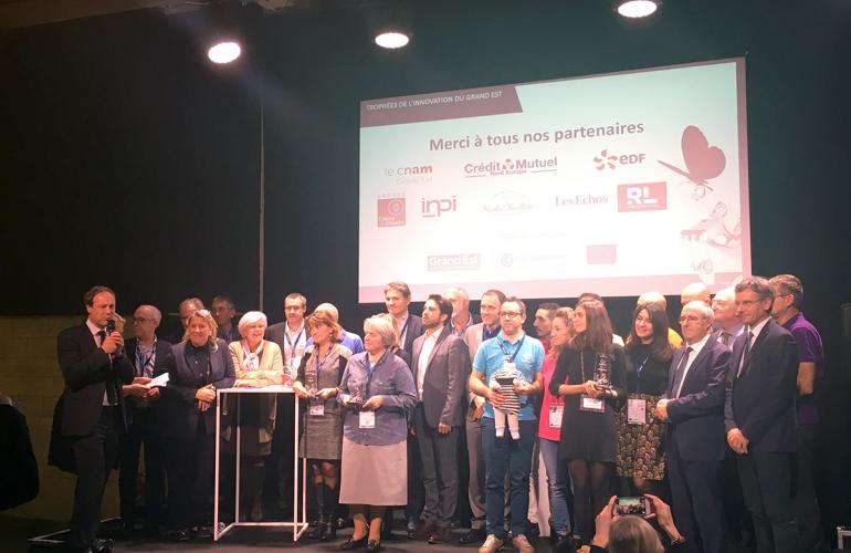 Lundi 3 décembre 2018, la soirée officielle des Trophées de l'innovation du Grand Est, soutenus par la Région Grand Est et la CCI Grand Est s'est déroulée simultanément à Reims, Mulhouse et Nancy
